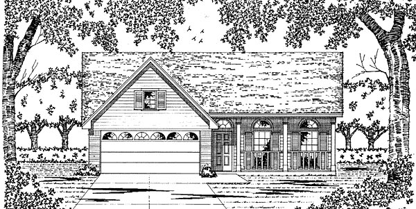 Country Traditional House Plan 79030 Elevation