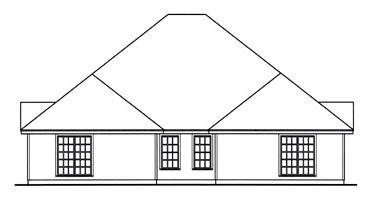 Country Multi-Family Plan 79240 Rear Elevation