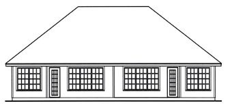 Country Multi-Family Plan 79256 Rear Elevation