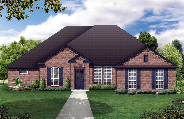 Elevation of Traditional   House Plan 79307