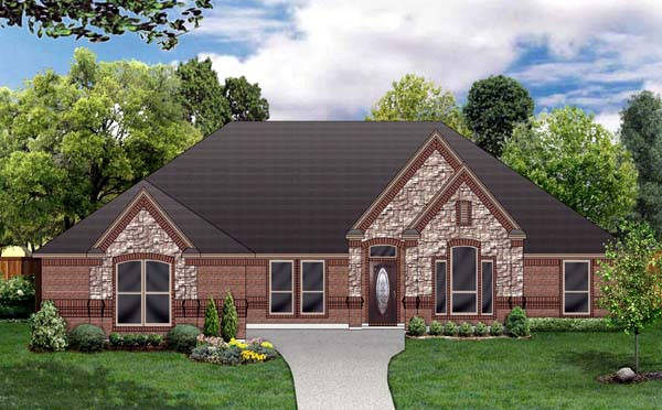 European Traditional House Plan 79314 Elevation