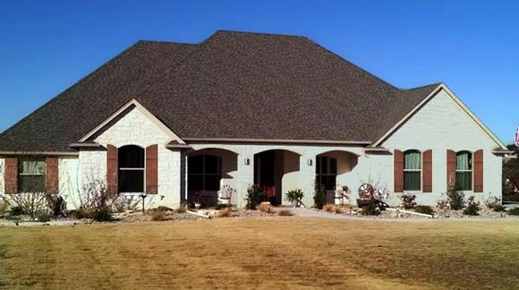 Traditional House Plan 79344 with 3 Beds, 3 Baths, 3 Car Garage Elevation