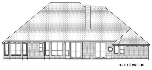 Traditional House Plan 79344 Rear Elevation