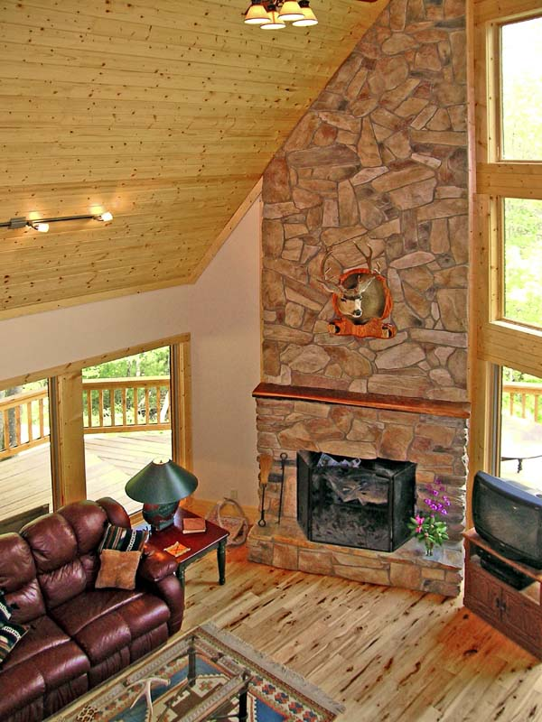 Cabin Country Log House Plan 79505