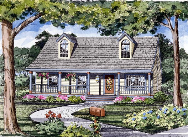 Cape Cod Cottage Country Traditional House Plan 79510 Elevation