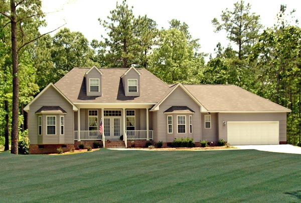 Country Farmhouse Southern Traditional House Plan 79518 Elevation