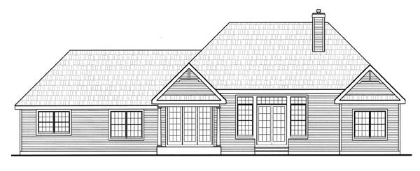 Country Farmhouse Southern Traditional House Plan 79518 Rear Elevation