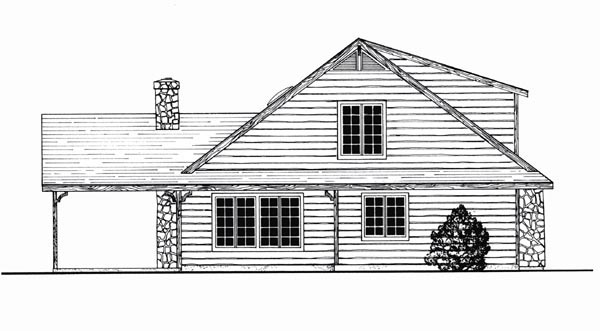 Cottage Traditional House Plan 79523 Rear Elevation