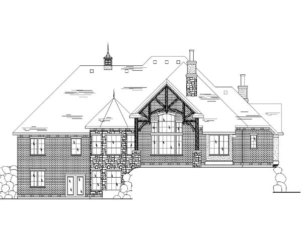 Traditional House Plan 79812 Rear Elevation