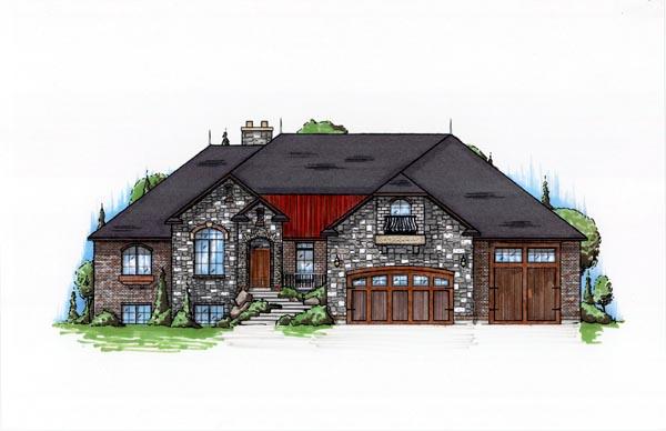 Hillside House Plan 79899