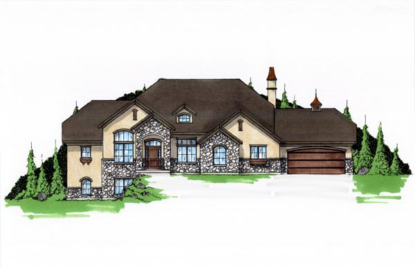 European House Plan 79901 with 6 Beds, 6 Baths, 3 Car Garage Elevation