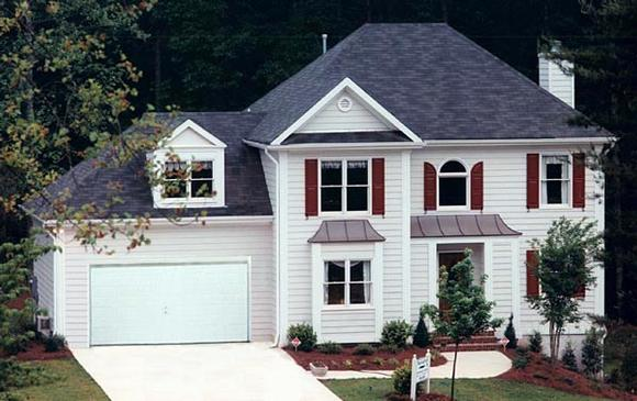 Cottage House Plan 80153 with 4 Beds, 3 Baths, 2 Car Garage Elevation