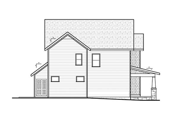 Craftsman House Plan 80196 with 4 Beds, 3 Baths, 2 Car Garage Picture 1