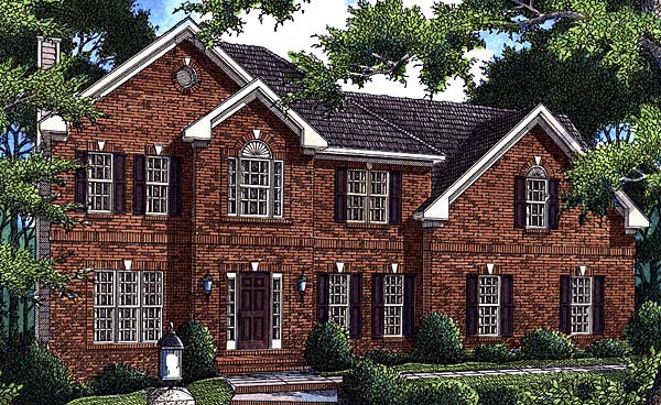 Traditional House Plan 80201 Elevation