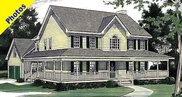 Country House Plan 80202 Elevation