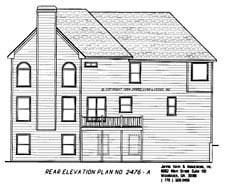 Southern House Plan 80204 Rear Elevation