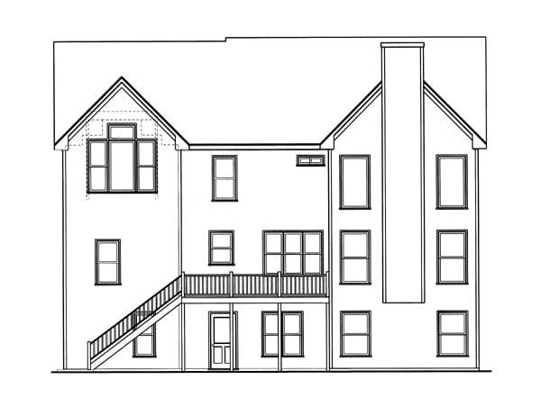 Cottage House Plan 80215 Rear Elevation