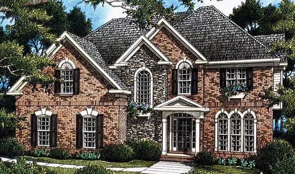 Colonial House Plan 80222 Elevation