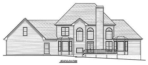 Southern House Plan 80223 Rear Elevation