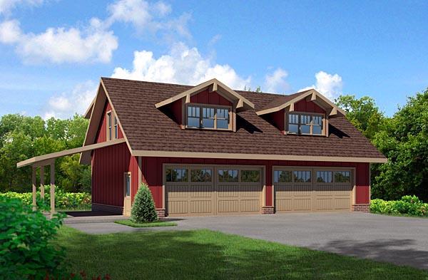 Cottage Garage Plan 80252 Elevation