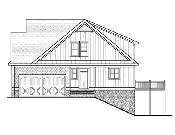 Bungalow, Cottage, Craftsman, Narrow Lot House Plan 80260 with 4 Beds, 4 Baths, 2 Car Garage Picture 1