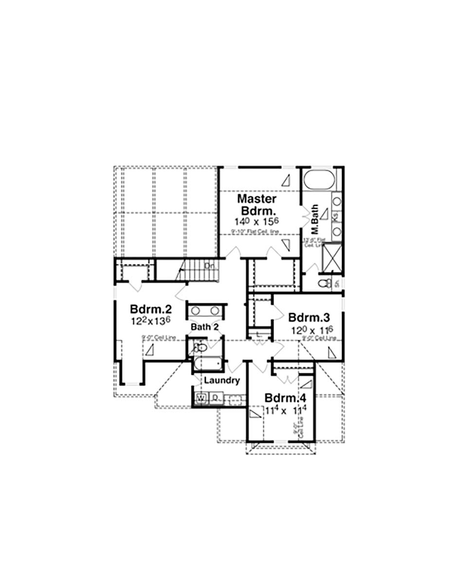 Bungalow, Cottage, Craftsman, Narrow Lot House Plan 80260 with 4 Beds, 4 Baths, 2 Car Garage Picture 3
