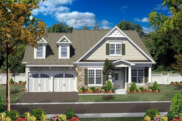 Cottage, Craftsman House Plan 80306 with 3 Beds, 3 Baths, 2 Car Garage Elevation