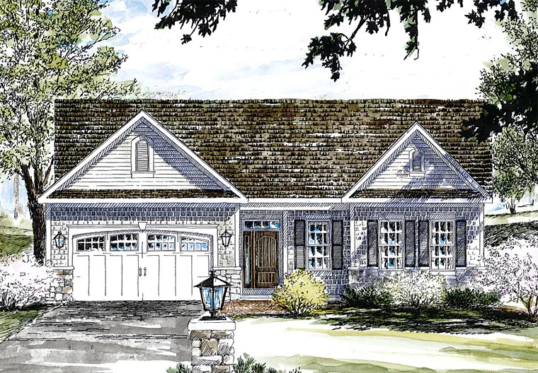 Country Traditional House Plan 80309 Elevation
