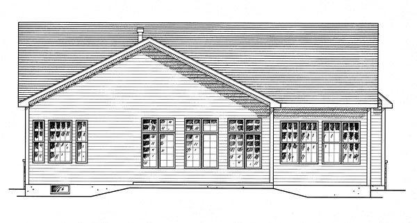 Country Traditional House Plan 80309 Rear Elevation