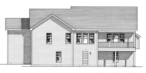Cottage, Craftsman, Ranch House Plan 80313 with 3 Beds, 2 Baths, 3 Car Garage Rear Elevation