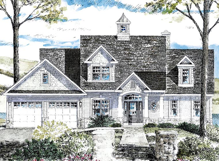 Cape Cod Cottage Craftsman House Plan 80314 Elevation