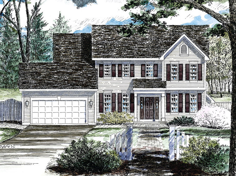Colonial Southern House Plan 80315 Elevation