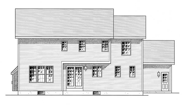 Colonial Southern House Plan 80315 Rear Elevation
