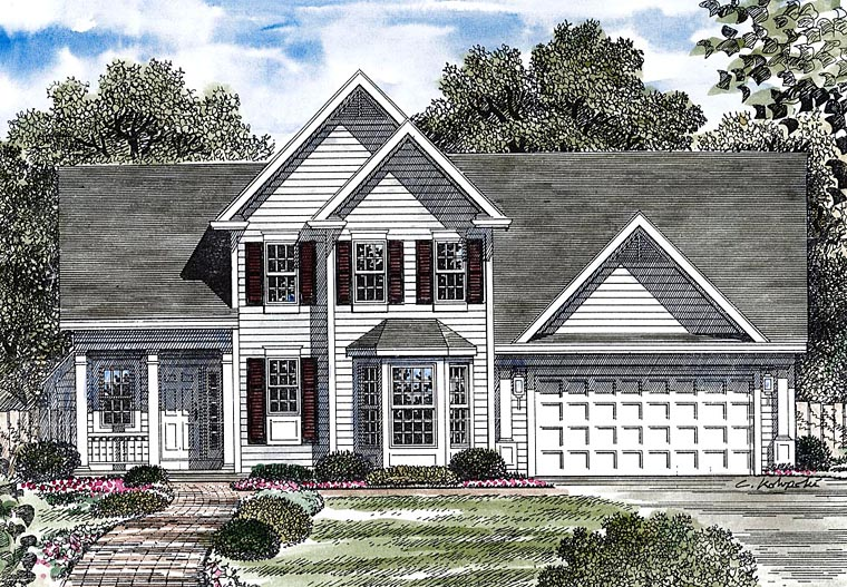 Colonial Traditional House Plan 80316 Elevation
