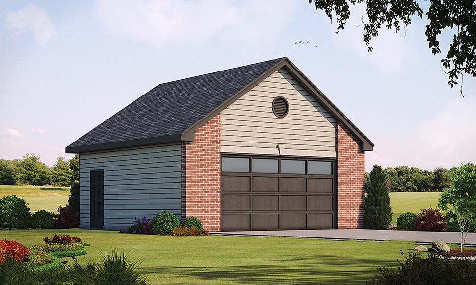 Traditional 2 Car Garage Plan 80428 Elevation
