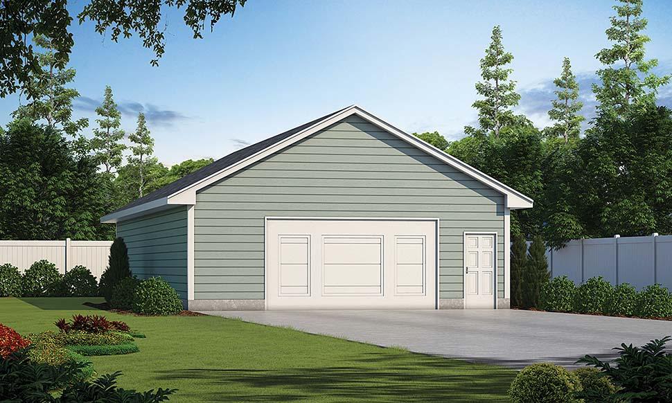 Traditional 2 Car Garage Plan 80440 Elevation