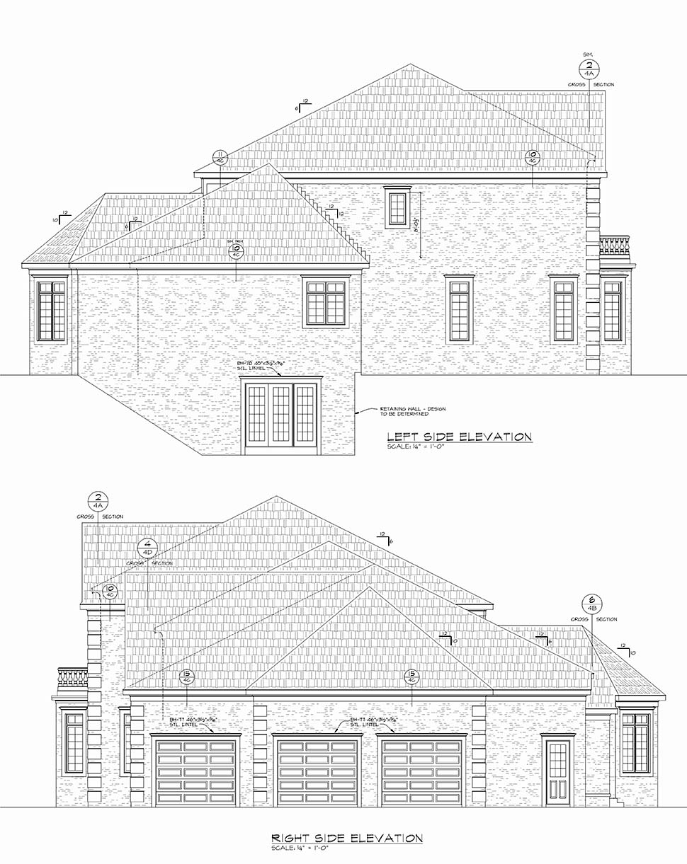 European House Plan 80453 with 5 Beds, 5 Baths, 3 Car Garage Picture 1