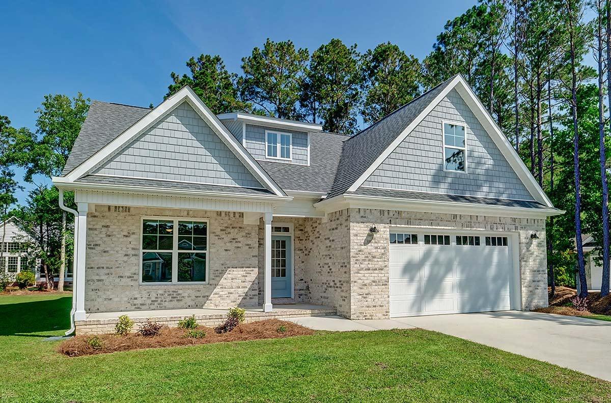 Craftsman House Plan 80475 with 4 Beds, 3 Baths, 2 Car Garage Elevation