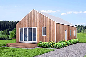 Cabin , Ranch , Traditional House Plan 80501 with 3 Beds, 2 Baths Elevation