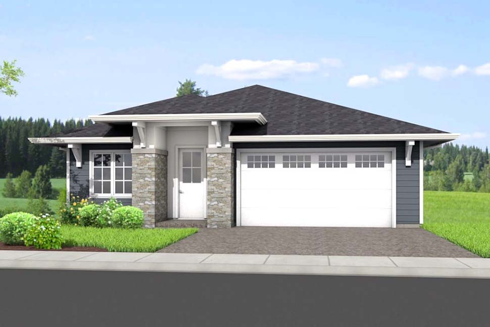 Traditional House Plan 80506 with 4 Beds, 3 Baths, 2 Car Garage Picture 1