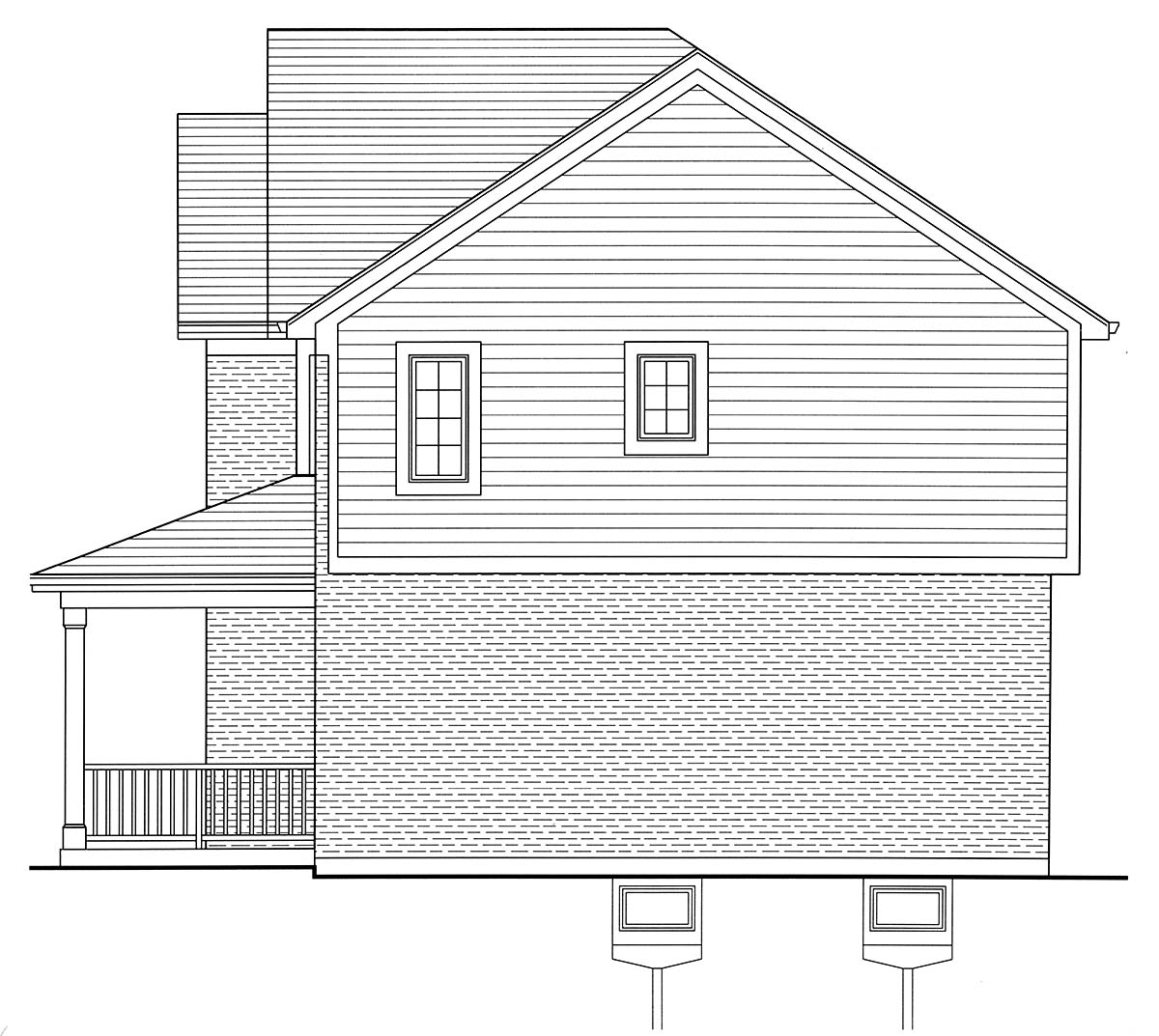 Country, Farmhouse, Traditional House Plan 80603 with 4 Beds, 3 Baths, 2 Car Garage Picture 1