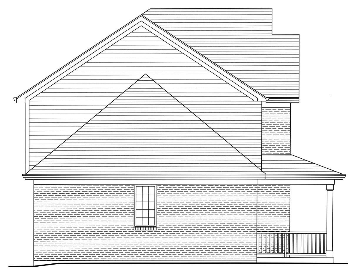Country, Farmhouse, Traditional House Plan 80603 with 4 Beds, 3 Baths, 2 Car Garage Picture 2