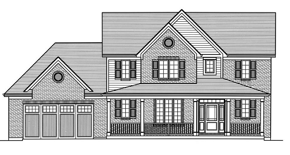 Country, Farmhouse, Traditional House Plan 80603 with 4 Beds, 3 Baths, 2 Car Garage Picture 3