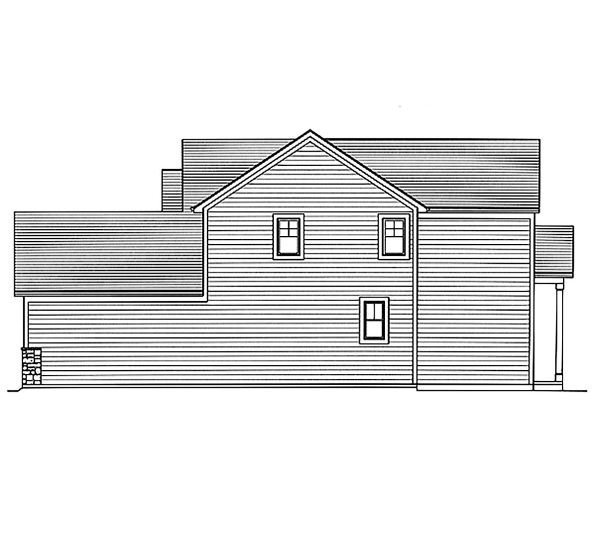 Country, Craftsman, European, Farmhouse House Plan 80608 with 4 Beds, 3 Baths, 2 Car Garage Picture 1
