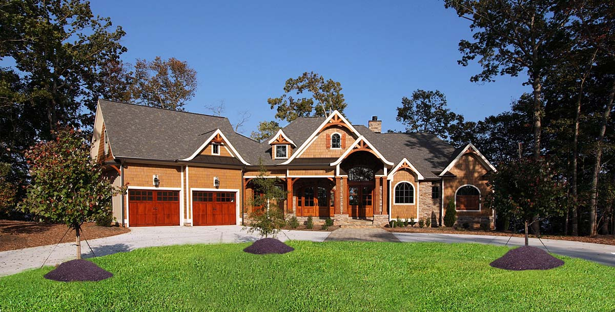 Country, Craftsman, Farmhouse, Southern House Plan 80730 with 4 Beds, 5 Baths, 2 Car Garage Elevation