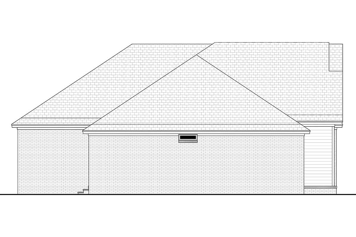 Country, Farmhouse, Traditional House Plan 80800 with 4 Beds, 2 Baths, 2 Car Garage Picture 2