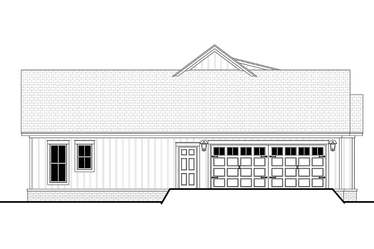 Cottage, Country, Farmhouse House Plan 80802 with 3 Beds, 2 Baths, 2 Car Garage Picture 2