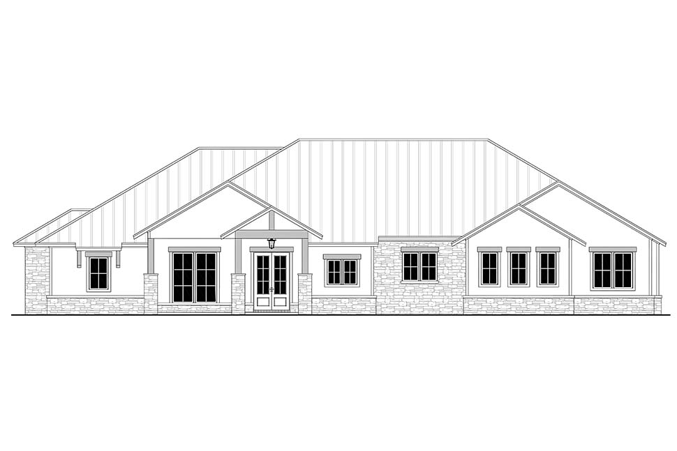 Country, Farmhouse, Ranch House Plan 80814 with 3 Beds, 4 Baths, 3 Car Garage Picture 3