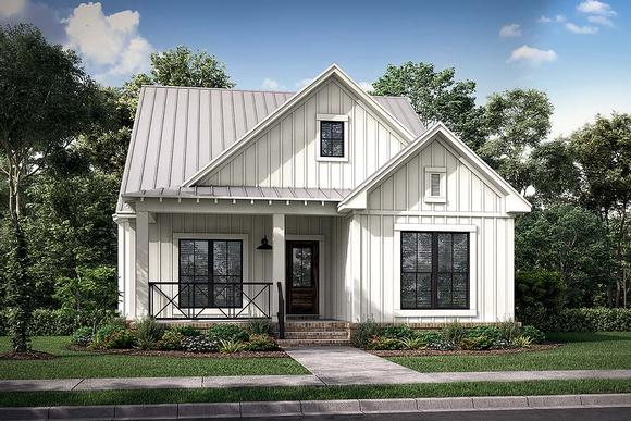 Country, Farmhouse, Traditional House Plan 80815 with 4 Beds, 4 Baths, 2 Car Garage Elevation