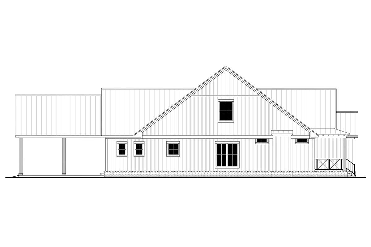 Country, Farmhouse, Traditional House Plan 80815 with 4 Beds, 4 Baths, 2 Car Garage Picture 2